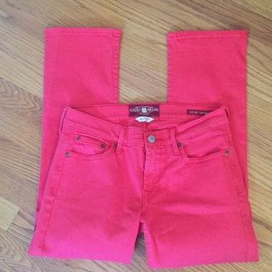 Lucky Brand Red Cropped Jeans